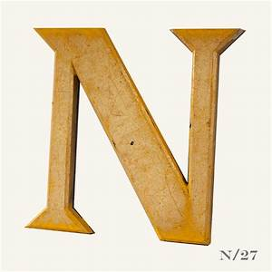 reclaimed gold resin letter n vintage matters With resin letters