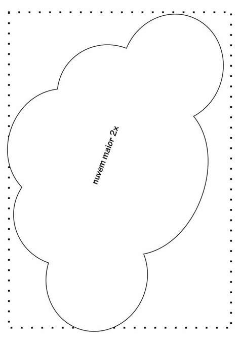 cartamodello nuvola  stoffa cerca  google disegno fiocco nuvole fai da te feltro