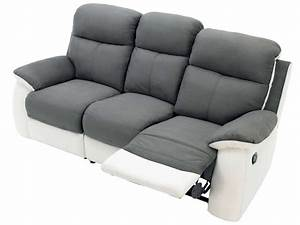 Canape cuir relax electrique 3 places conforama canape for Canapé cuir relax 3 places conforama