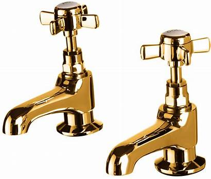 Taps Gold Basin Bath Prima Dorato 24ct
