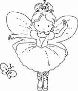 Fairy Coloring Pages Butterfly Colouring Princess Template Cartoon Christmas Drawing Faires Adult Ajax Pm Posted sketch template