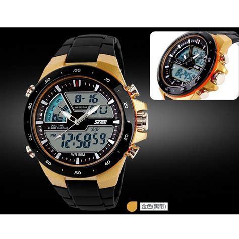 skmei jam tangan analog skmei jam tangan digital analog pria ad1016 black