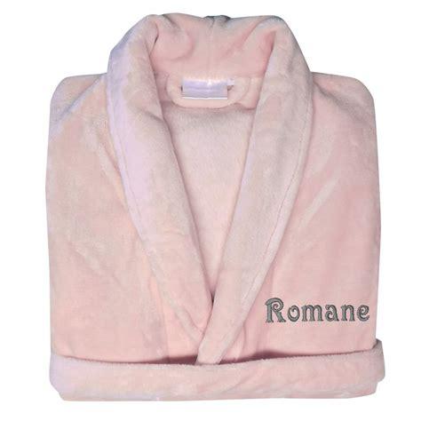 robe de chambre fille polaire robe de chambre polaire brodée une idée de cadeau