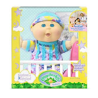 """Cabbage Patch Kids 12 5"""" Naptime Babies: Blonde Hair"""