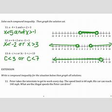 Solving And Graphing Compound Inequalities  Math Showme