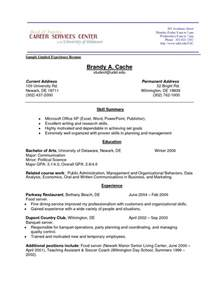 resume sles with no work experience exle experience in resume frizzigame