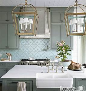 robins egg blue tiles cottage kitchen sherwin With what kind of paint to use on kitchen cabinets for large scale wall art