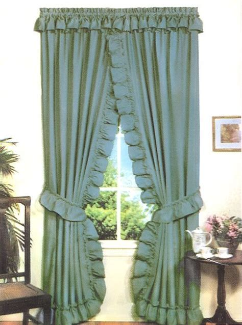 Stacey One Rod Criss Cross Ruffled Priscilla Window