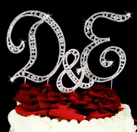 letter cake toppers 3 vintage monogram wedding cake topper initial top 22787