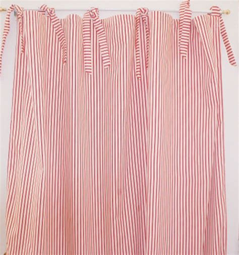 ticking stripe curtain panel by maddie boo