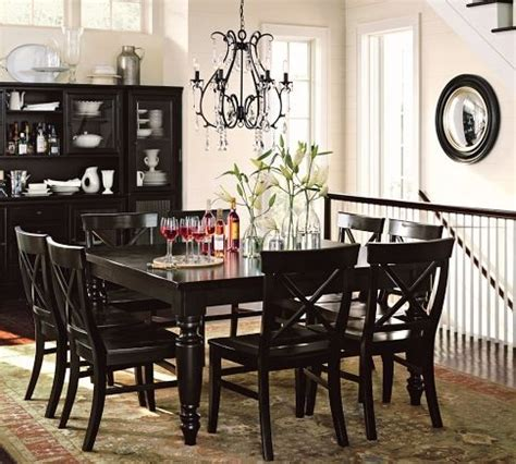 pottery barn dining set black home decor