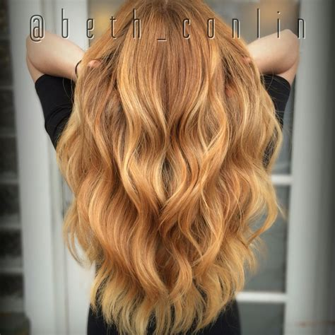 balayage rot blond strawberry balayage beth conlin hair beth conlin