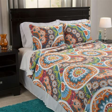 Colorful Coverlets by Abstract Bright Colorful Sherpa Backing Quilted Blanket