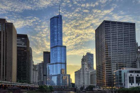 chicago building buildings architecture trump tower architect designs illinois wrigley joe sun photographs lekas lowering behind river