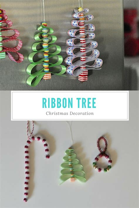 ribbon christmas tree decoration be a fun mum