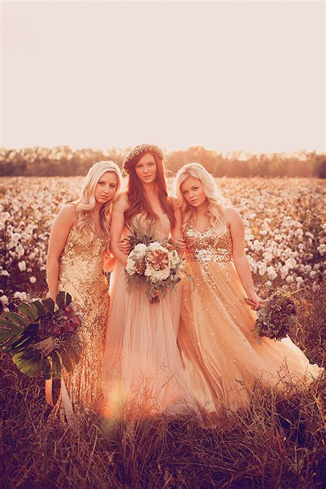 cotton field wedding inspiration gold pink wedding 100 layer cake