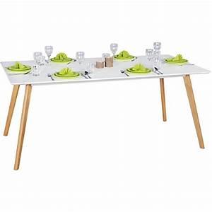 Tisch Retro Design : finebuy esszimmertisch 180 x 76 x 90 cm aus mdf holz esstisch mit tischplatte in wei ~ Markanthonyermac.com Haus und Dekorationen
