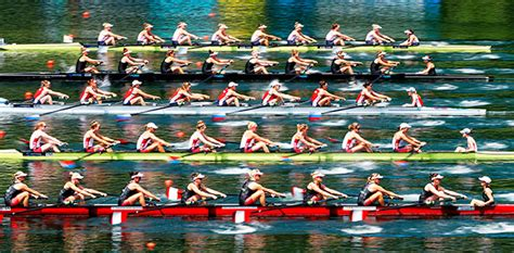 Row Boat Team by Olympic Rowing U S S Eight The Favorites In