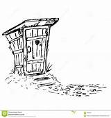 Toilette Toilet Drawings Outhouse Coloring Toletta Clipart Template Sketch Wc sketch template