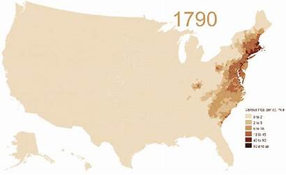 Population 1790 Map States United Growth Density