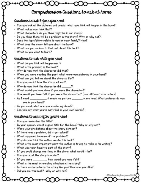 questions to ask at parent teacher conference preschool 5th grade passages with inferential questions 1000 ideas 982