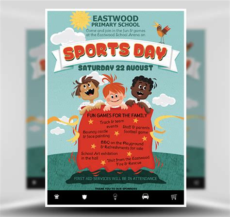 Sports Day Poster Template by Kid S Sports Day Flyer Template Flyerheroes