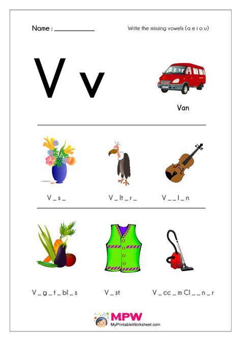 missing vowels worksheets      vowels worksheets
