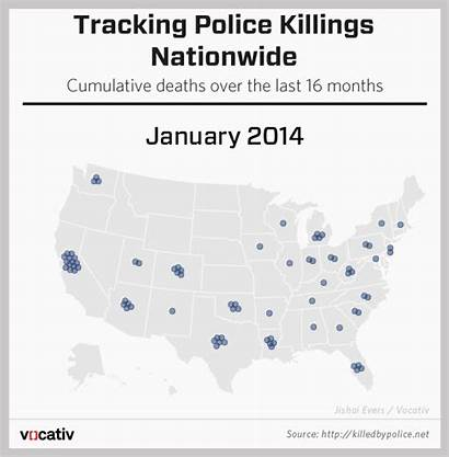 Police Killed Brutality Killings Map Deaths Gifs