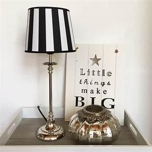 Lampenschirm Schwarz Weiß Gestreift : tischlampe stripes schwarz wei tischleuchte shabby vintage nostalgie landhaus ebay ~ Indierocktalk.com Haus und Dekorationen
