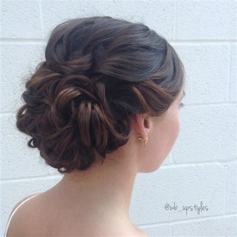 Low Updo Hairstyles by Gorgeous Wedding Hairstyle Swept Back Low With