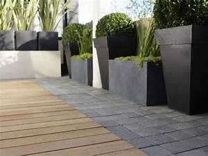 j39aime bien ce mix bois et paves sur les paves la With amenagement tour de piscine 10 terrasse pavee ou carrelage nos conseils