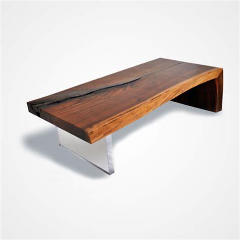 Live Edge Walnut Coffee Table And Plexi Base Rotsen