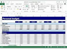 Budget Template Microsoft Salonbeautyformcom