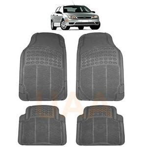 Ford Explorer All Weather Floor Mats - gray grey all weather rubber floor mats set for ford