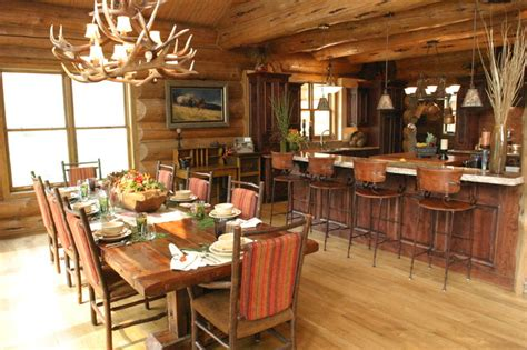 Mill Canyon Lodge  Tour Of Homes  Rustic  Dining Room