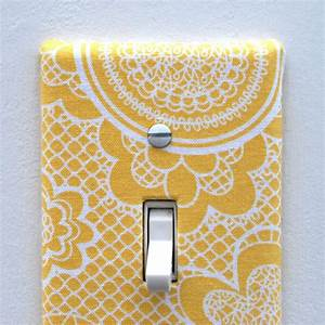 Light, Switch, Plate, Cover, Wall, Decor, Yellow, With, By, Maisonwares