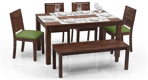 modern glass dining table set arabia oribi 6 seater dining table set with bench