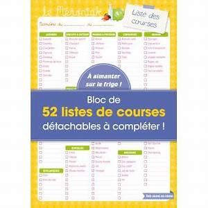 Listes De Courses : liste de courses m moniak bloc de 52 listes de courses ~ Nature-et-papiers.com Idées de Décoration
