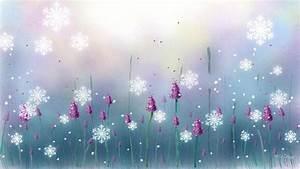 Snow Falling On Flowers HD desktop wallpaper : Widescreen ...