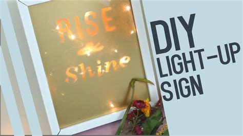 light up sign quotes crafts that light up