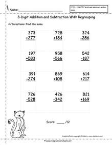 three digit addition and subtraction worksheets from the 39 s guide - 3 Digit Addition And Subtraction