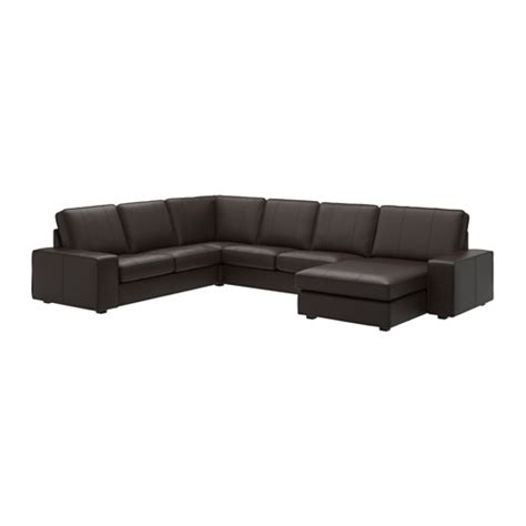 Kivik Sofa Cover Leather by Kivik Loveseat With Chaise Grann Bomstad Brown Ikea
