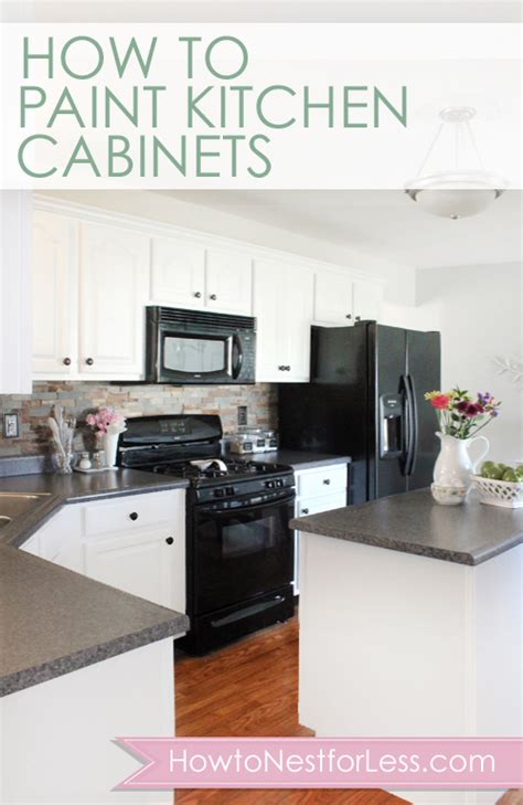 how to paint unfinished cabinets how to paint your kitchen cabinets how to nest for less