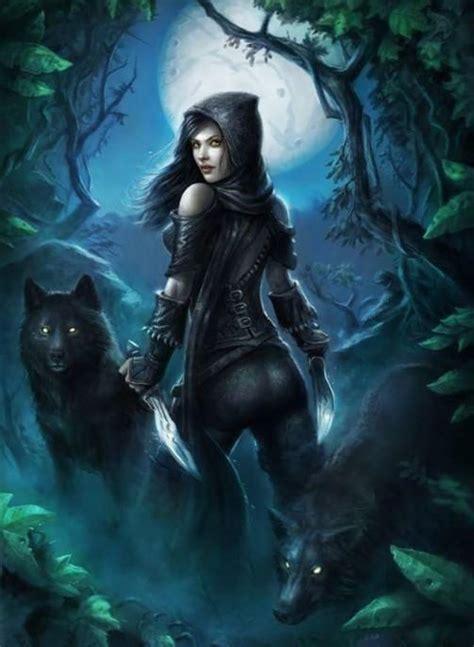 vampire girl  werewolf square diamond painting