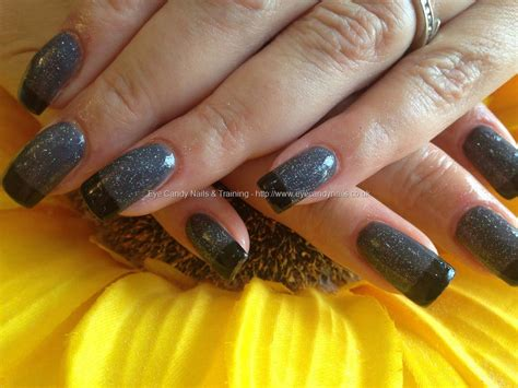 eye candy nails training acrylic nails  dark grey