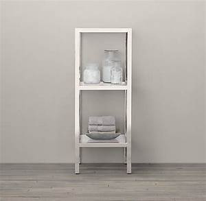 Bathroom wall shelves that add practicality and style to for Small bathroom etagere