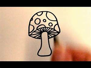 How to Draw a Cartoon Mushroom - YouTube