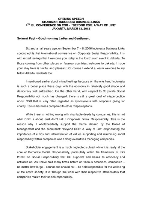 conference opening speech template 130313 nk opening speech ibl chairman