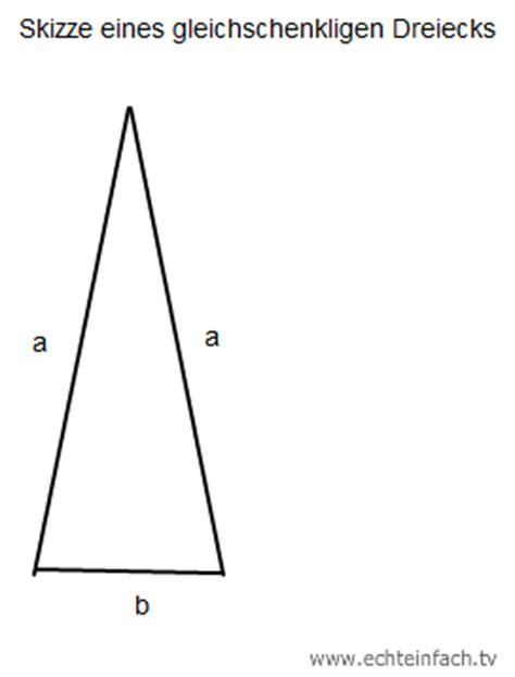 einem gleichschenkligen dreieck ist ein schenkel  cm