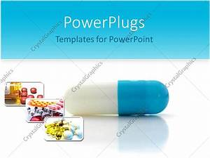 powerpoint template close up of blue and white capsule With free pharmaceutical powerpoint templates